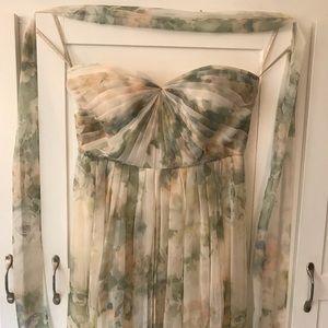 Jenny Yoo Mira Dress Ivory Sage Vintage Floral